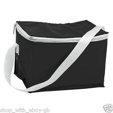 Picnic Budget Cooler Lunch Bag Cool Available in 4 Colours Black Camping Travel
