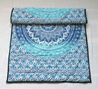 Soft Baby Quilt Blue Ombre Mandala Throw Coverlet Handmade Mandala Baby Quilts