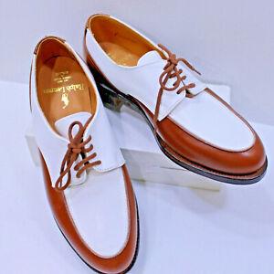 Bench Made Crockett & Jones RALPH LAUREN Golf Shoes Brown White 7B Shoes VTG