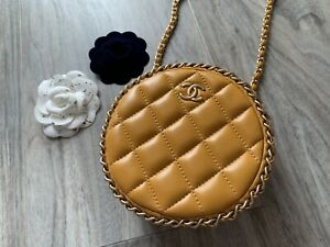 CHANEL Round Clutch Bag With Chain