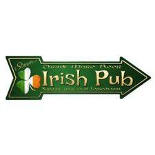 """Outdoor/Indoor Irish Pub Cheers/ Sláinte Novelty Metal Arrow Sign 5"""" x 17"""""""