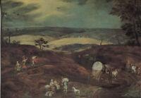 Alte Kunstpostkarte - Jodocus de Momper - Hügellandschaft