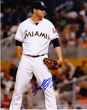 BRYAN MORRIS   MIAMI MARLINS   ACTION SIGNED 8x10