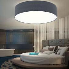 LED Decken Lampe Ess Zimmer Strahler Beleuchtung Büro Stoff Leuchte grau rund