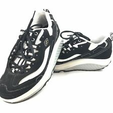 Skechers Shapeups Size 7.5 Womens Shape Ups Black Shoes With White Trim