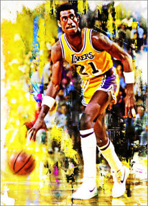 2021 Michael Cooper Los Angeles Lakers 2/25 Art ACEO Print Card By:Q