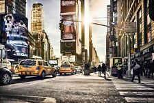 Non Woven Gigante Wallpaper 368x248cm New York Times Square Diseño Mural De Pared