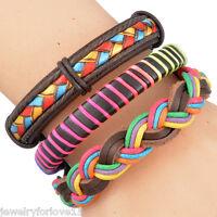 FL: 1Set Herren Armkette Armband Armschmuck Multifarbe Geflochten Mehrschichtig