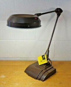 Vintage FLEXO Dazor Floating adjustable Industrial Magnifying Desk Lamp MINT MCM