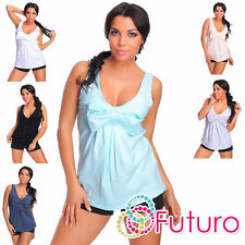 Women's V Neck Hip Length Casual Vest Top, Strappy, Cami Tops & Shirts