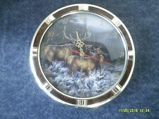 Millette Battery Operated Deer Clock-Plastic W/Woodlike Trim-Nice-Man Cave !