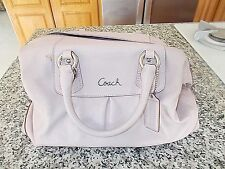 COACH Pleated Leather Ashley Duffle Satchel PINK F15445