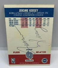1987 FLEER JEROME KERSEY #60 AUTOGRAPH SIGNED CARD, HIGH END CARD SERIES
