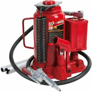 Torin Big Red Air Hydraulic Bottle Jack, 20 Ton