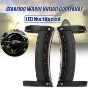 Mini Universal Wireless Car Steering Wheel Button Remote Control For Stereo DVD