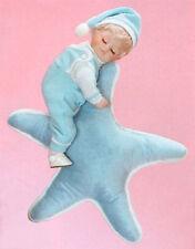 Star Dreams - Porcelain BOY DOLL ON STAR PI;;OW