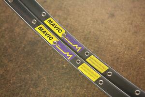 Vintage *MINT* 1990's set (2) French Mavic GP4 tubular rims rimset 700c 36 holes