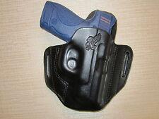 S&W M&P SHIELD 9MM & 40 formed leather pancake owb leather belt slide holster