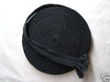 10M BLACK Synthetic Silk Tsuka ITO For JAPANESE sword (tsuba-fuchi-habaki-seppa)