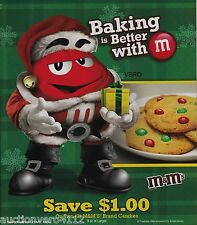 2013 magazine ad M&Ms Santa BAKING BETTER WITH #4 BIG  mms M&M candy print