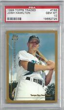 1999 PSA 10 JOSH HAMILTON TOPPS TRADED NONE AUTO  RO0KIE CARD REAL NICE CARD