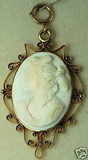 VICTORIAN ANTIQUE ANGELSKIN CORAL CAMEO PENDANT BOOK