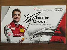 Handsignierte Autogrammkarte *JAMIE GREEN* Audi Sport Team DTM Saison 2013