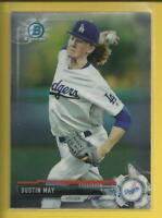 Dustin May RC 2017 1st Bowman Chrome Prospects Rookie Card Los Angeles Dodgers