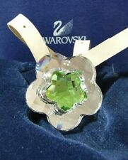 "SWAROVSKI FASHION JEWELLERY ""FLOWER PERIDOT PENDANT  LEATHER THONG  290840 NEW"