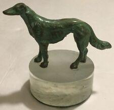 Wonderful Vintage BORZOI RUSSIAN WOLFHOUND BRONZE DOG on Lucite Base