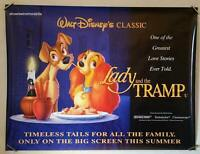 LADY AND THE TRAMP  Original 1996 Re-release UK quad cinema POSTER