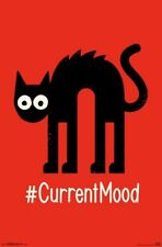 CURRENT MOOD - SCARED CAT POSTER - 22x34 - FUNNY HUMOR 16341