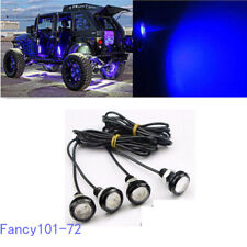 4x Blue LED Rock Light for JEEP ATV Off-Road Truck Trail Rig Fender Underbody