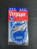 "Dayton Ohio ""Birthplace of Aviation"" Voyager Travel Souvenir Patch - Brand New -"