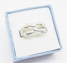 Sterling Silver .925 Double Love Friendship Knot Band Ring Sz. 7 ...R180