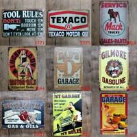 Metal Tin Garage Auto Dad Mechnic Wall Home Art Retro Decor BedRoom Sign Poster