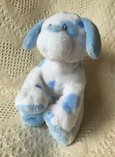 """TY PLUFFIES WHITE W/ BLUE SPOTS BABY PUPS DOG PLUSH - 9"""" TALL"""