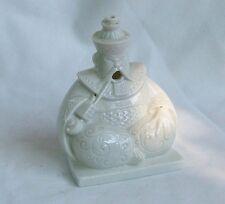 "Rare Vintage Incense Burner German White Porcelain Chinese ""Khan"" w/Fu Manchu"