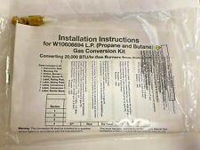 Maytag Whirlpool Dryer Lp Gas Conversion Kit  W10606694A Genuine OEM