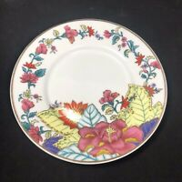 """Imperial Leaf China 6"""" Saucer Gold Rimmed Flowers Leaves replacement"""