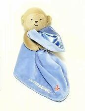 Carters Child of Mine Security Blanket Monkey Rattle Blue Plane CAPTAIN ADORABLE