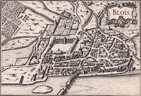 Gravure XVIIe Ville de Blois Christophe Tassin Loir et Cher 1634
