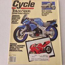 Cycle Magazine Tokyo Show Honda NR750 January 1990 061417nonrh