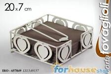 Portatovaglioli metallo cuori 657849 20 cm gic