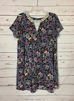 Umgee Boutique Women's S Small Navy Floral Lace Short Sleeve Spring Summer Dress