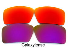 Galaxy Replacement Lenses For Oakley Eyepatch 1&2 Purple&Red Polarized 2Pairs
