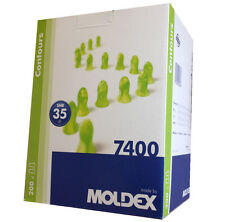 200 Pairs Moldex Contours 7400 Standard Size  Ear Plugs earplugs Ear Protection