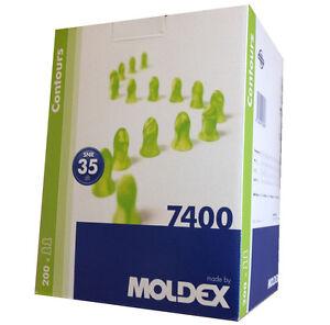 200 Pairs Moldex Contours 7400 Standard Size  Ear Plugs earplugs Ear Protection