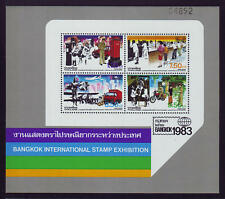 Thailand Souvenir Sheet 1983 BANGKOK Inter. Stamp Exhibition 3rd Series - MNH