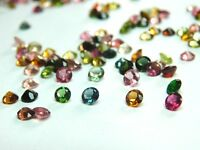 VVS 20 Pieces 2 MM Round Cut Wholesale Lot Natural Multi Tourmaline Gemstones